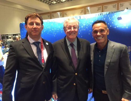 Sean H. Worthington CEO of Cloud Coin with Kevin Harrington, and Steve Forbes @Freedom Fest.